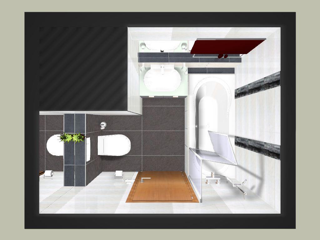 Auf Kleinem Raum Ein Tolles Bad Incl.WC Und Dusch/Badewannekombination.  Durch Den Spiegel Oberhalb Der Vormauerung Am WC Erhält Das Bad Tiefe Und  Wirk So ...